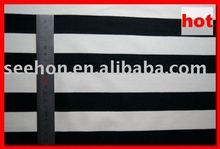 Mini Matt Stripe Fabric /1 cm white and black yarn dyed zebra