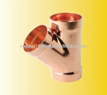 45degree WYE DWV wrought copper CXCXC copper y branch pipe fitting