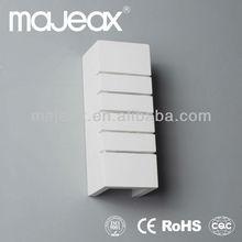 110V /220~240V White Gypsum Plaster Bedside wall lamp holder