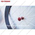 700c 88mm tubulaires en carbone vélo de route roue rouge moyeu. 23.0 largeur de la jante