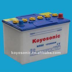 Dry Acid Starter Car battery(Auto battery)-N50Z-12v 60Ah