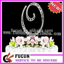 diamante cake topper-clear rhinestone dimond gems