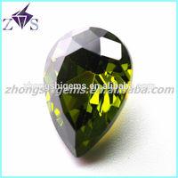 pear shape fashion cubic zirconia gems