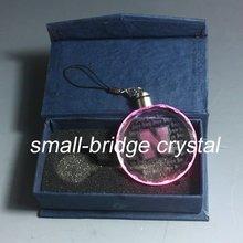 laser crystal , pendant , LED light, promotional gift , paper box