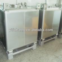 350 Gallon stainless steel bulk liquid storage ibc tank