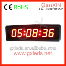 alibaba cn Ganxin 2.3 inch 6 digit red led digital wall clock with CE ROHS