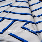 """59"""" wide blue and white striped rayon jersey knit fabric"""