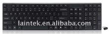 2.4g Black colour RF mini Slim wireless keyboard