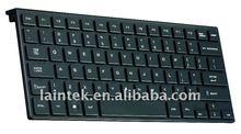 black colour RF 2.4G Wireless mini keyboard with Chocolate keycaps