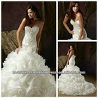 Cap Sleeve Sheath Popular Tulle and Lace Sweetheart Sexy Backless Wedding Dresses 2013