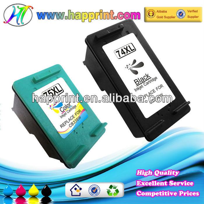 Haute qualité rechargeable cartouche d'encre pour HP 74 75 74XL 75XL ... cartouche d'encre recyclage
