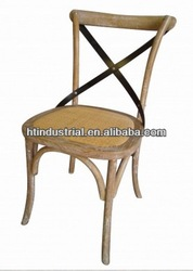 Solid wood Thonet Bentwood dining Chair of cross backrest design