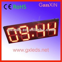 Waterproof red 4digits racing time countdown high brightness hour counter