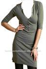 Fashion henley shirt dress