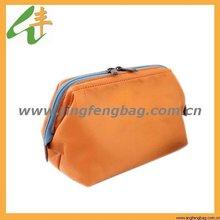 2014 lady's casual zippered modella nylon cosmetic bag