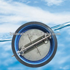Dual disc check valve wafer type