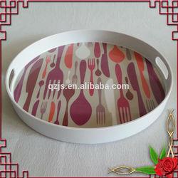 round melamine tray with handles