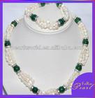 2014 New Blue Gemstone Pearl Jewelry Set PJS402