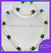 2015 New Blue Gemstone Pearl Jewelry Set PJS402