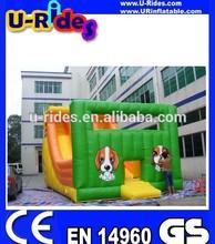 Octopus inflatable slide teo plays slide