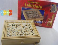 2012 niño de madera laberinto o juego de laberinto de juguete con bolas de hierro