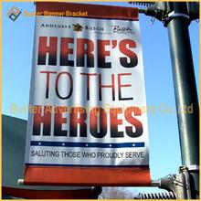 Advertising outdoor lamppost banner