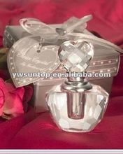 wedding favor Crystal Perfume Bottle in Satin Gift Box decorative crystal perfume bottle