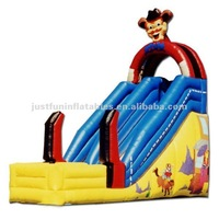 super fun inflatable dry slide for kids,cartoon slide inflatable for children
