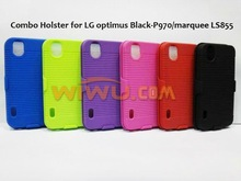 Rubber Coated Combo 2 In 1 Swivel Belt Clip Holster Combo Case