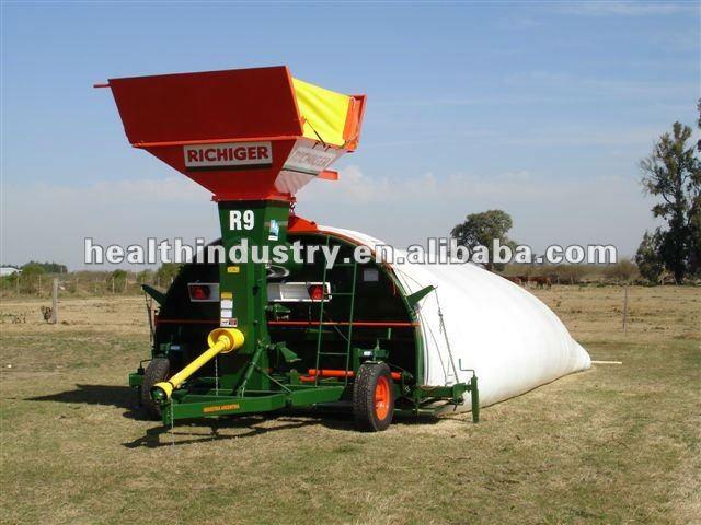 Blanco / negro tight silo bolsa para el almacenamiento de grano, Maíz