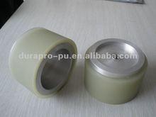 Crowne shape polyurethane coated wheels roller, high precision