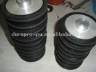 Black urethane rubber coated Metal core wheels 10inch, high wear resistant