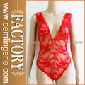 sexy vermelho profundo laço mais recente moda lingerie
