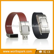 bulk cheap 1gb 2gb 4gb leather bracelet usb stick with CE/FCC/ROTHS