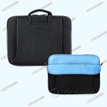 17 inch neoprene laptop sleeve with handle , Waterproof sleeve bag for 17.3 inch laptop