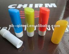 plastic oblique lip balm case/cosmetic lipstick tube