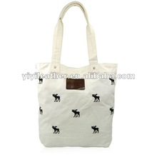 T131-2014 hot sale canvas tote bag,canvas wholesale tote bags, canvas trendy shopping bag