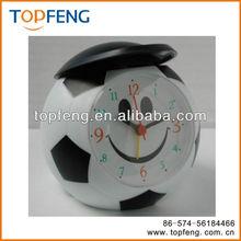 football alarm clock/football digital clock/football shape desk clock