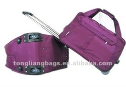 Fashion nylon school trolley bag/travel business trolley case