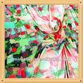 Moda flores polyster impresso sarja chiffon / prints africano têxteis e tecidos