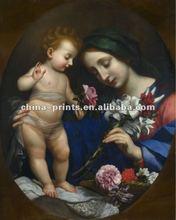 Santa Mary Church Figures Canvas Painting Arts with frame