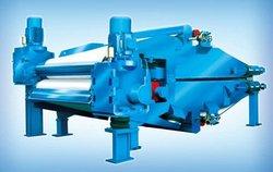 long work width twin wire press-heat dispersing system for toilet paper machine