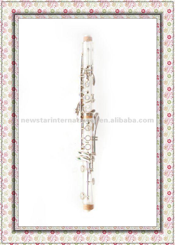 Amber/transparente clarinete