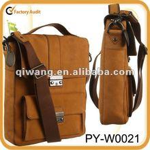 flight men's laptop genuine leather messenger bag for ipad