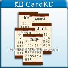 2012 new calendar card