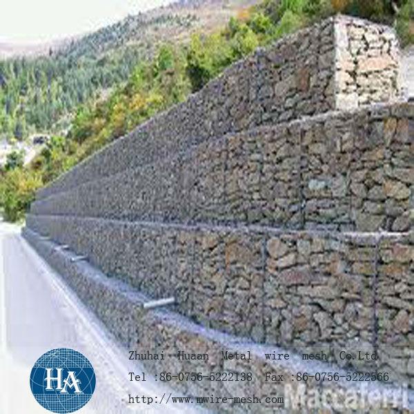 Mur de sout nement de gabion fil de fer barbel id du for Mur de soutenement en gabion