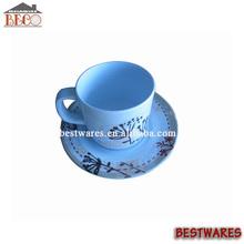 ขายส่งที่นิยมสุขภาพสิ่งแวดล้อมเมลามีนถ้วยกาแฟและจานรอง