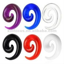 2012 hottest UV Acrylic spiral ear plug