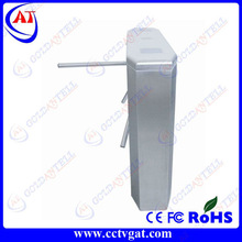 Electronic steel gate design enter and exit supermarket entrance price tripod turnstile with smart control system