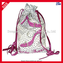 Satin Embroidered Drawstring Bag For Shoes